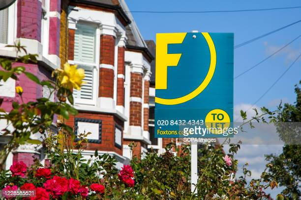 Foxtons estate agent's 'To Let' sign seen outside a residential property in London.