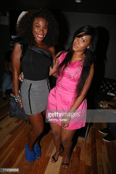 K Foxx and Mizz DR attend Spotlight Live at Stage 48 on July 22 2013 in New York City