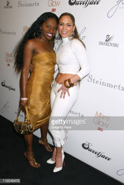 Foxy Brown and Jennifer Lopez during Olympus Fashion Week Fall 2005 Sweetface by Jennifer Lopez and Andy Hilfiger Backstage and Front Row at Bryant...