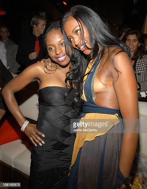 Foxy Brown and Naomi Campbell during CocaCola Make It Real Launch Party at Marquee in New York City New York United States