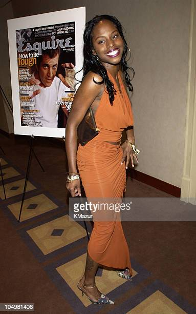 Foxy Brown during Esquire to Honor The Heavies of the Music Industry at W Hotel Union Square in New York City New York United States