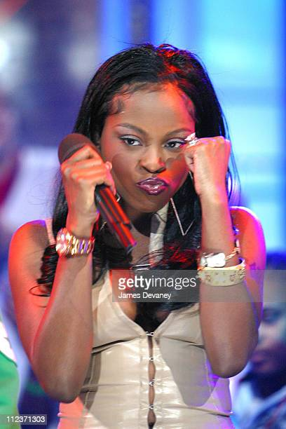 Foxy Brown during Foxy Brown on MTV's Direct Effect at MTV Studios Times Square in New York City New York United States