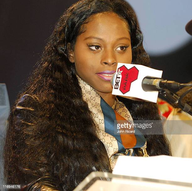 Foxy Brown during Foxy Brown Press Conference at BET Studios in New York New York United States