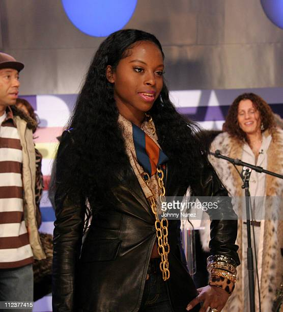Foxy Brown during Foxy Brown Press Conference December 15 2005 at BET Music Production Studio in New York City New York United States