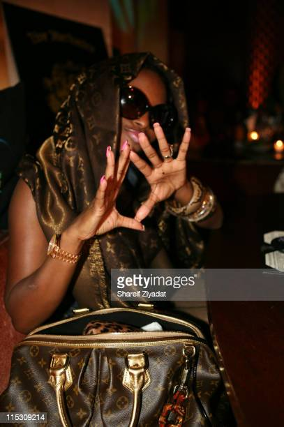 Foxy Brown during Lil X and Kenny Burns Holloween Birthday Party at Lotus in New York City New York United States