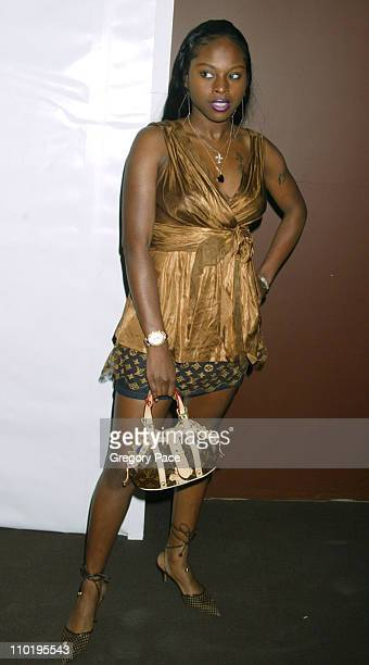 Foxy Brown during Louis Vuitton 150th Anniversay Celebration Inside at Louis Vuitton Tent at Lincoln Center in New York City New York United States