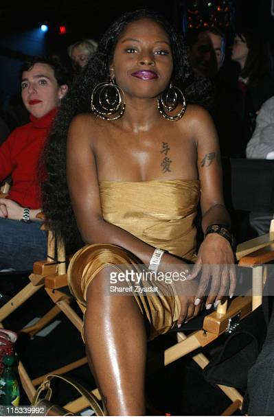 Foxy Brown during Olympus Fashion Week Fall 2005 Sweetface by Jennifer Lopez and Andy Hilfiger Front Row at The Tent Bryant Park in New York City New...