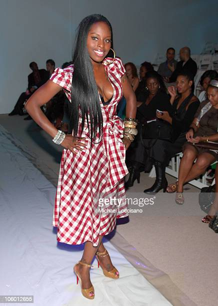 Foxy Brown during Olympus Fashion Week Spring 2007 Chris Aire Backstage at Bryant Park in New York City New York United States