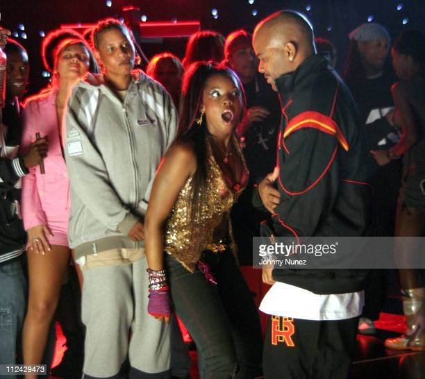 Foxy Nicole Wray and Damon Dash during Nicole Wray Video Shoot October 19 2004 at Silvercup Studios in New York City New York United States