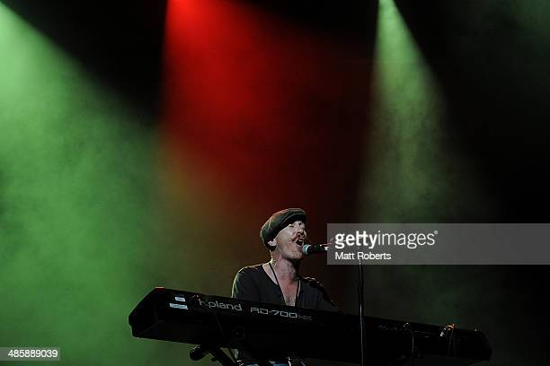 Foy Vance performs live for fans at the 2014 Byron Bay Bluesfest on April 21 2014 in Byron Bay Australia