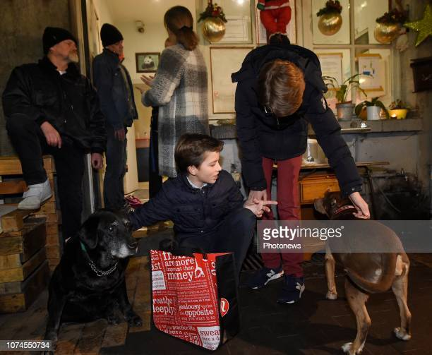 Foyer Georges Motte 8e édition du Plan Froid organisée par la Fondation Prince Laurent en présence du prince Laurent et de la princesse Claire Ils...