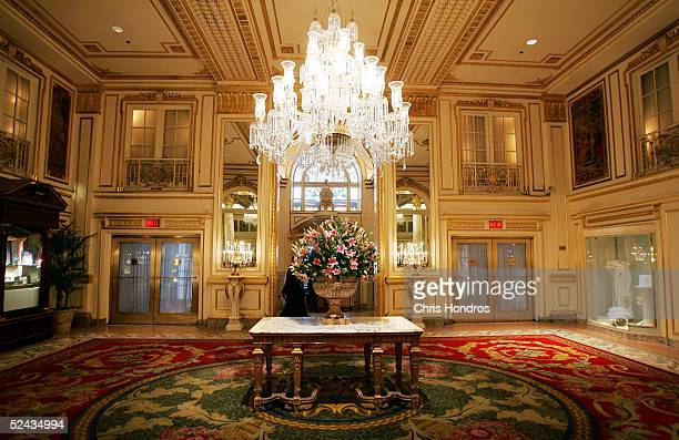 A foyer inside the Plaza Hotel is seen March 16 2005 in New York City The legendary Plaza Hotel which opened in 1907 and hosted New York's elite for...