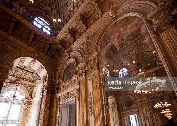 Foyer Massimo Bellini theatre Catania Sicily italy Europe