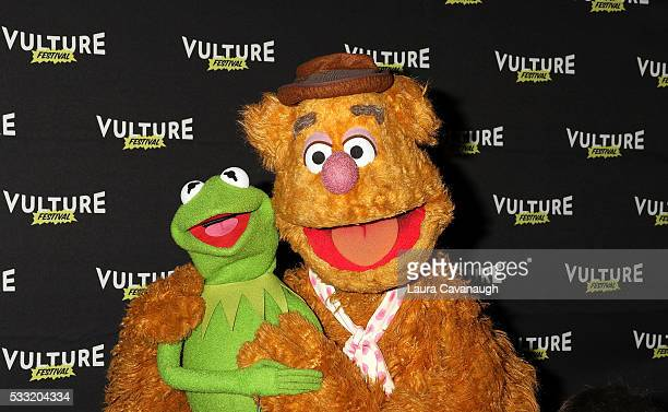 Fozzie Bear and Kermit the Frog attend Morning With The Muppets 2016 Vulture Festival at Milk Studios on May 21 2016 in New York City
