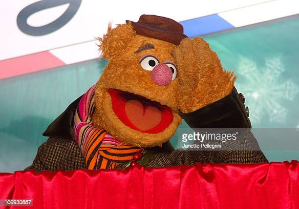 Fozzie Bear attends the US Postal Service and the Muppets 'Letters To Santa' kick off at the James A Farley Post Office on December 1 2009 in New...