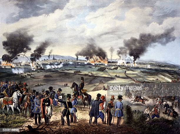 Fr Kaliwoda after Fr Zalder The Attack of October 30 1848 seen from the Laaberg Austria 1948 Revolution de 1848 Museum of the city of Vienna