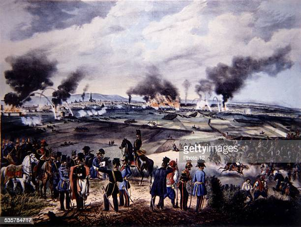Fr Kaliwoda after Fr Zalder The attack of October 30 seen from Laaberg Austria 1848 revolution Museum of the city of Vienna
