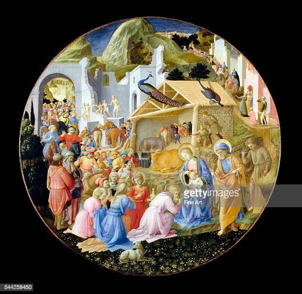 Fra Angelico and Fra Filippo Lippi (Italian, c. 1406-1469, The Adoration of the Magi, c. 1440/60, tempera on panel, l188 x 171.5 x 12.7 cm , Samuel...