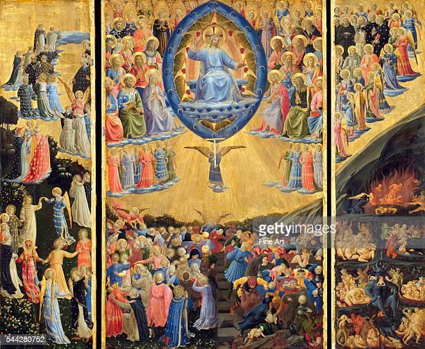 Fra Angelico , The Last Judgment, triptych altarpiece, c. 1450, tempera and gold on panel, Gemäldegalerie der Staatliche Museen zu Berlin.
