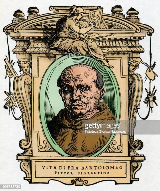 Fra Bartolomeo born Bartolomeo of Paolo di Jacopo 'del Fattorino' said Baccio della Porta a Florentine painter Colored illustration on a 16th century...