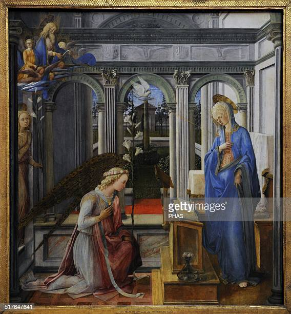 Fra' Filippo Lippi Italian painter Ealry Renaissance The Annunciation 14431450 Oil on panel Alte Pinakothek Munich Germany