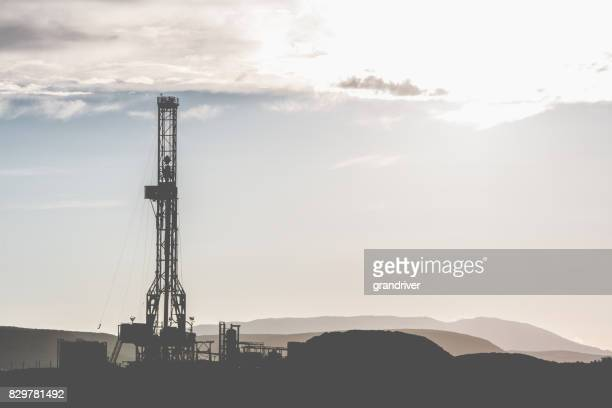 Fracking Drilling Rig at the Golden Hour
