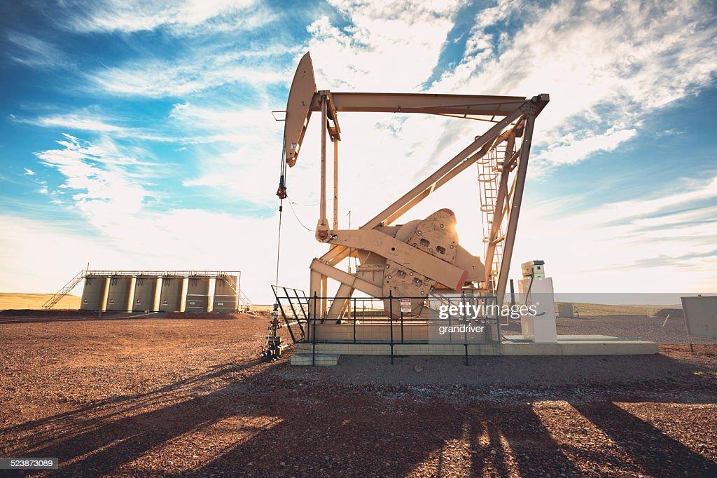 Fracking Oil Well : Stock Photo