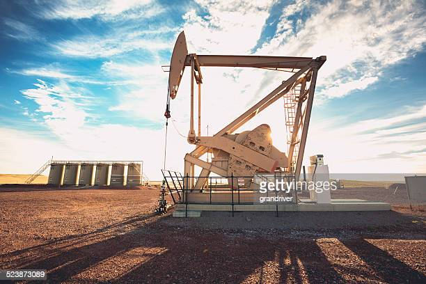 fracking oil well - drill stock pictures, royalty-free photos & images