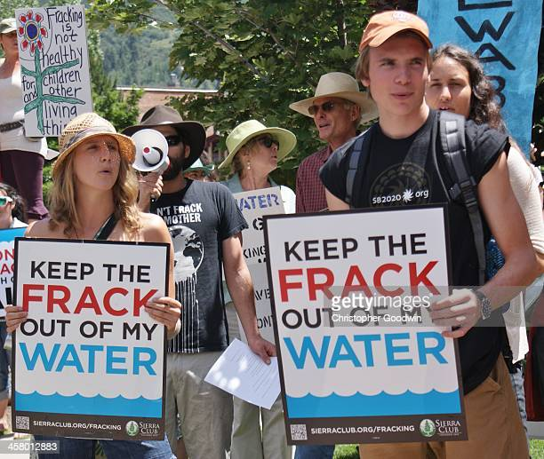 CONTENT] Fracking opponents demonstrate at the Democratic Governor's Conference in Aspen Colorado