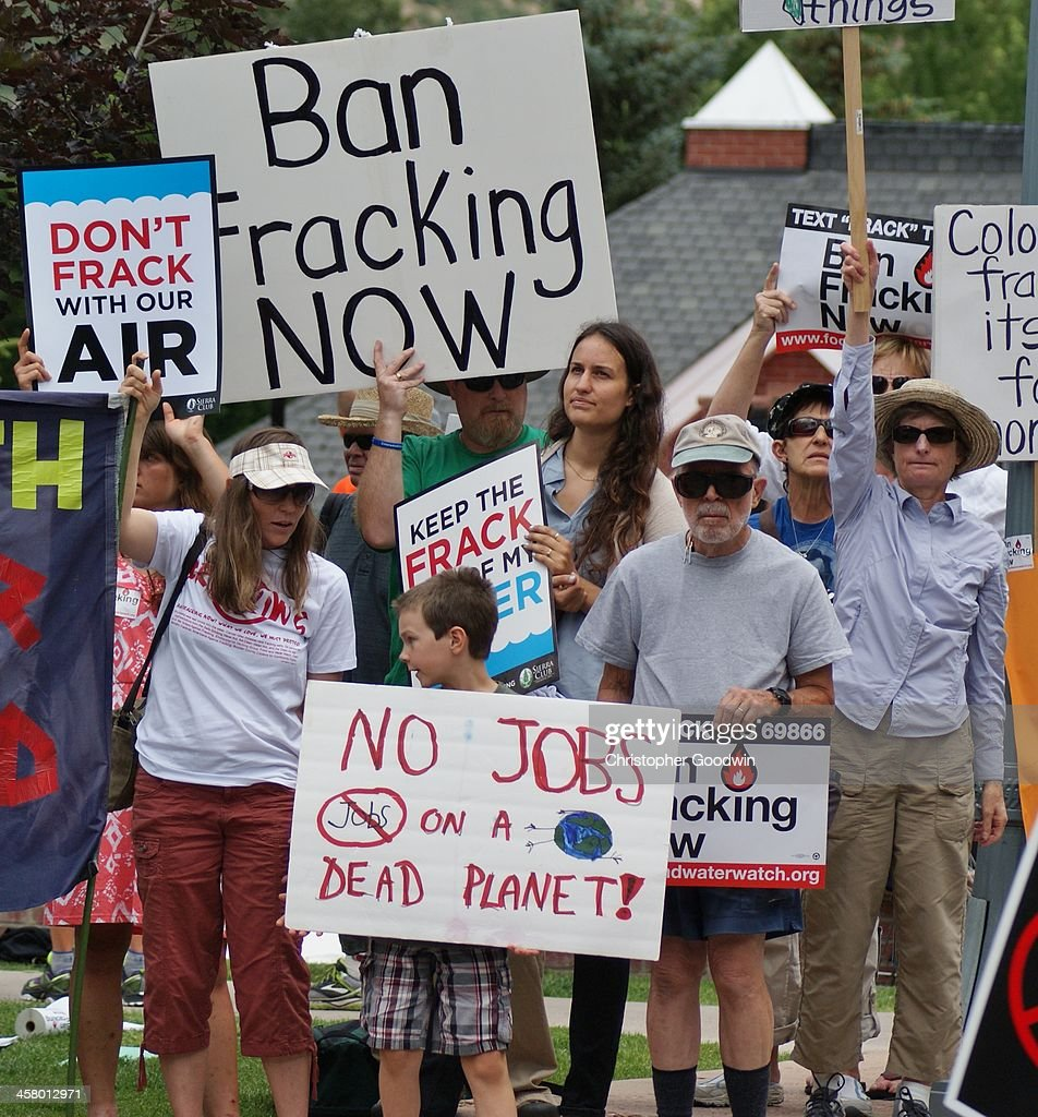 Fracking protest at Governors' conference. : News Photo