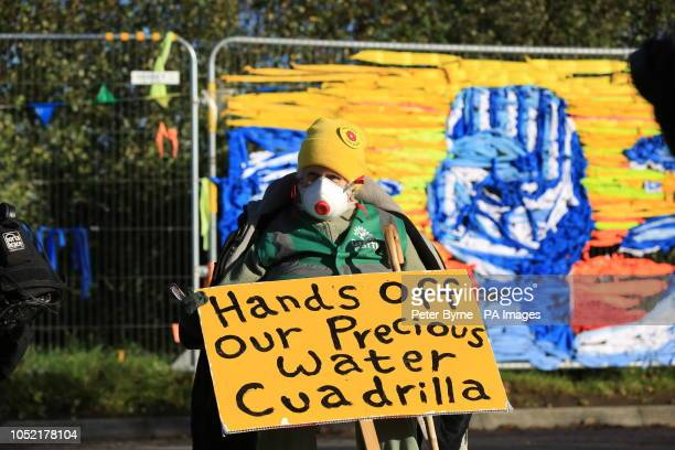 Fracking protesters outside energy firm Cuadrilla's site in Preston New Road Little Plumpton near Blackpool The protesters have said their fight has...