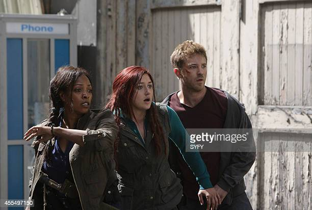 Z NATION 'Fracking Zombies' Episode 102 Pictured Kellita Smith as Warren Anastasia Baranova as Addy Michael Welch as Mack