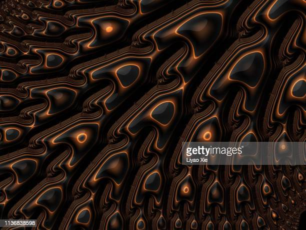 fractal metal pattern - liyao xie stock pictures, royalty-free photos & images