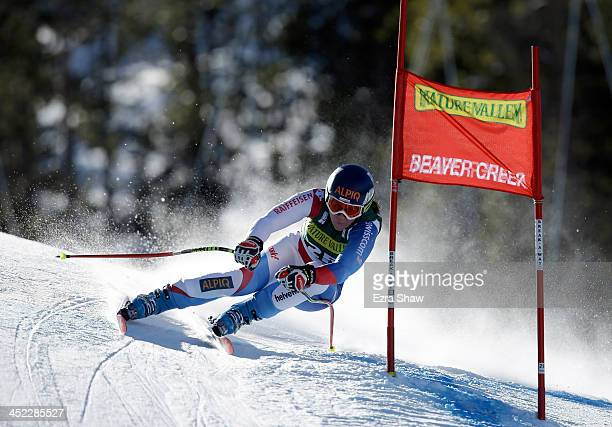 Fraenzi Aufdenblatten of Switzerland during day 2 of training on Raptor for the FIS Beaver Creek Ladies Downhill World Cup on November 27 2013 in...