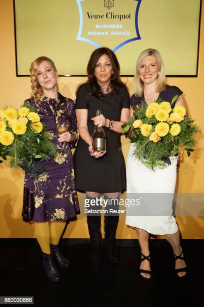 Fraenzi Kuehne Alice Brauner and LeaSophie Cramer attend the Veuve Clicquot Business Woman Award 2017 at The Grand on November 29 2017 in Berlin...