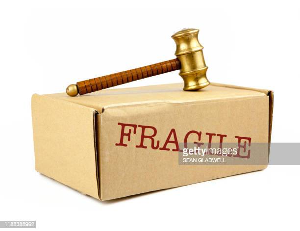 fragile auction box - bid stock pictures, royalty-free photos & images