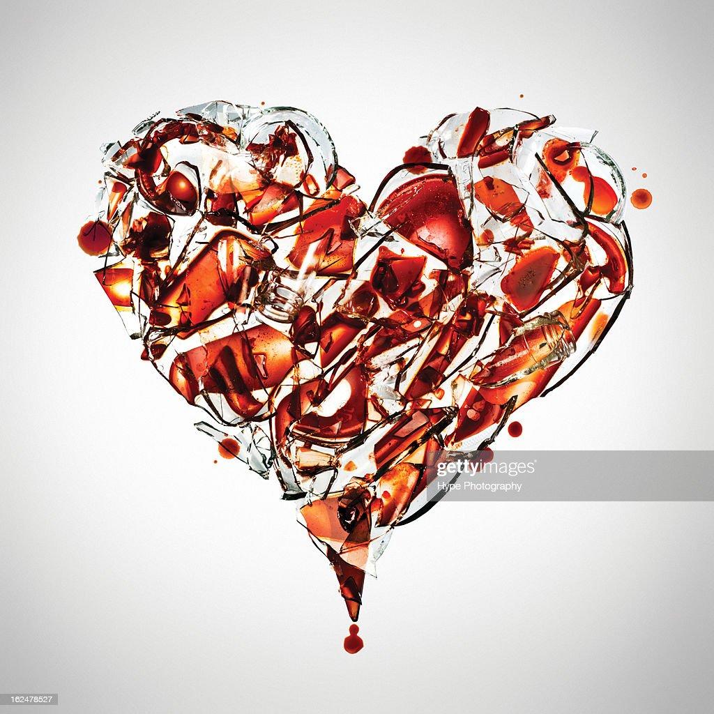 Fragile heart concept : Stock Photo