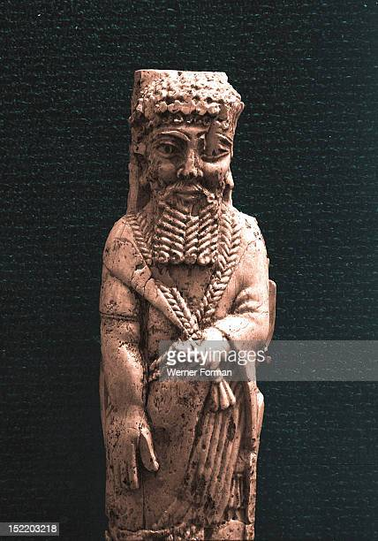 Fragment of a Phoenician style ivory of a bearded head found in an Assyrian palace High scan only Phoenician work Last third of 8th century Ancient...