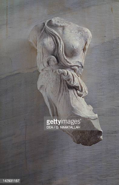 Fragment of a sculpture from the metope of Heraion of Argos, Greece. Greek civilization, 5th Century BC. Athens, Ethnikó Arheologikó Moussío