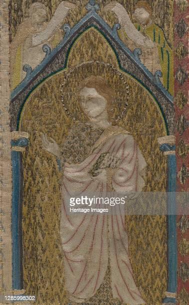 Fragment of an Orphrey, British, 13th century. Artist Unknown.