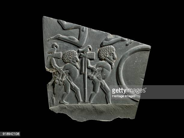 Fragment of battlefield palette 3100 BC Dimensions height 165 cmwidth 17 cm Artist Unknown
