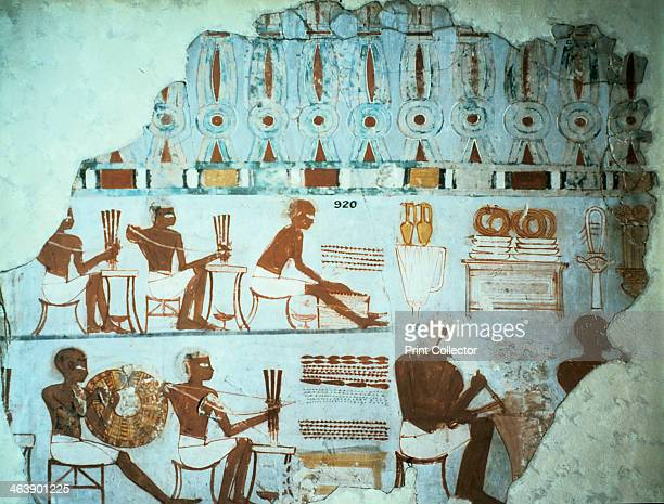 Fragment of painted plaster from the tomb of Sebekhotep from Thebes Egypt 18th Dynasty c1400 BC As a senior treasury official of the reign of...
