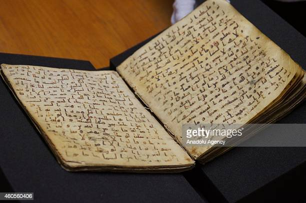 A fragment of the Quran which Muslims believe to be a revelation from God delivered by the Prophet Muhammad as the one and the only holy book of...