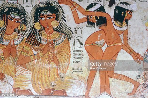 Fragment of wall painting from the tomb of Nebamun Thebes Egypt 18th Dynasty c1350 BC Though a standard subject for a Theban tomb painting this...