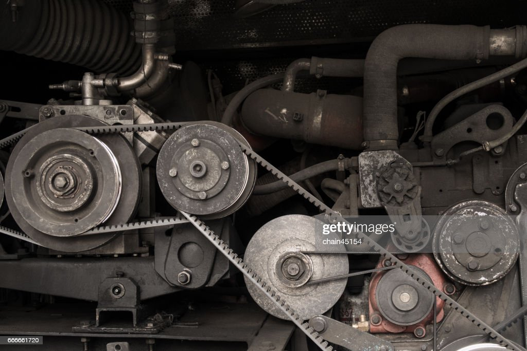 A Fragment Part Of The Old Car Engine Stock Photo
