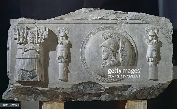Fragmentary relief from Piazza Consolation Rome Italy Roman Civilisation 1st century BC Roma Museo Capitolino