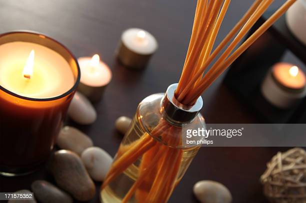 fragrance reed diffuser - candle stock pictures, royalty-free photos & images