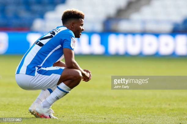 Fraizer Campbell of Huddersfield Town during the Sky Bet Championship match between Huddersfield Town and Norwich City at John Smith's Stadium on...