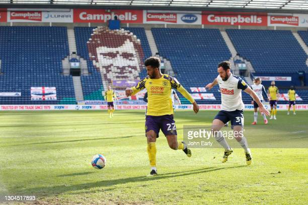 Fraizer Campbell of Huddersfield Town during the Sky Bet Championship match between Preston North End and Huddersfield Town at Deepdale on February...