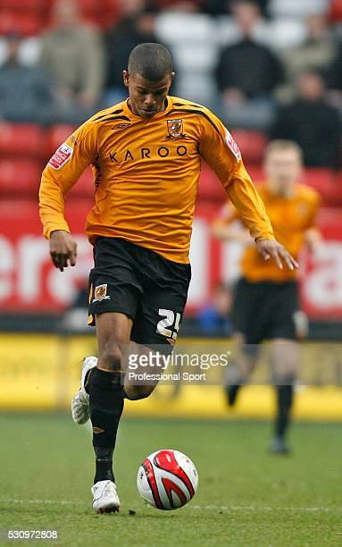 Fraizer Campbell of Hull City in action during the Charlton v Hull Championship Match at The Valley Stadium London UK on 22nd December 2007